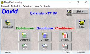 Hoofdmenu-software